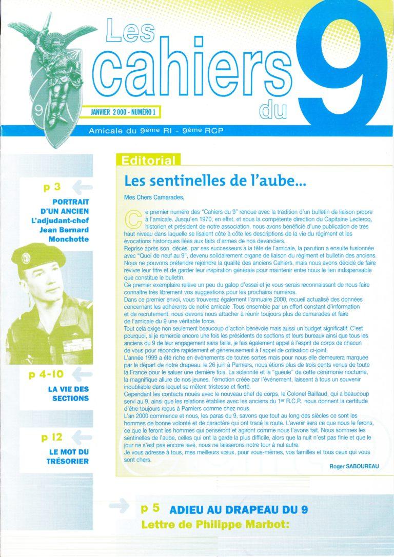 N°1 - Janvier 2000