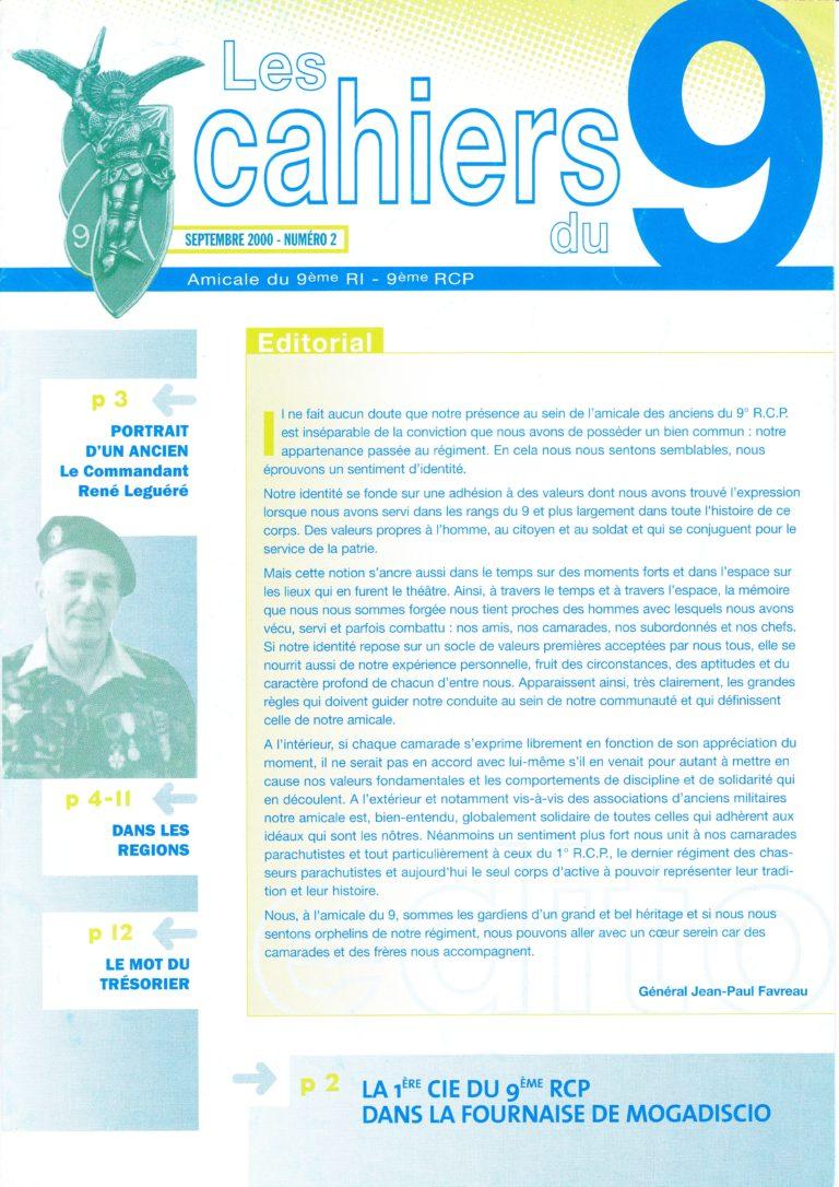 N°2 - Septembre 2000