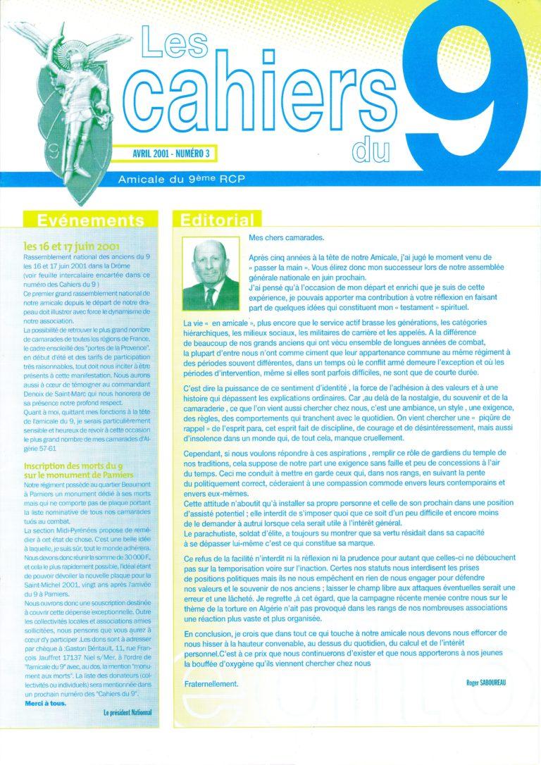 N°3 - Avril 2001