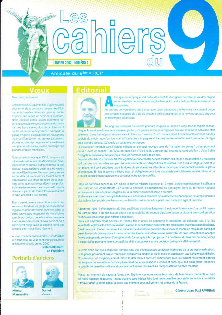 N°4 - Janvier 2002
