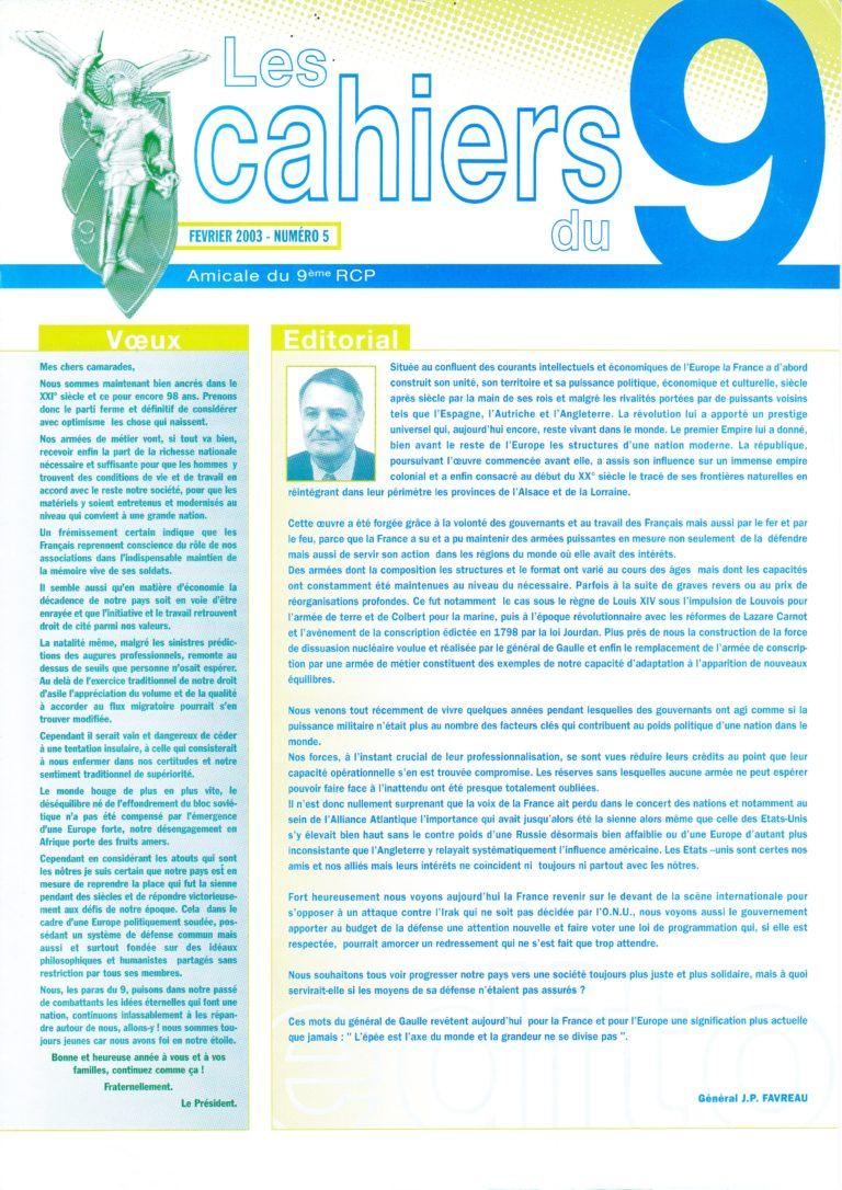 N°5 - Février 2003